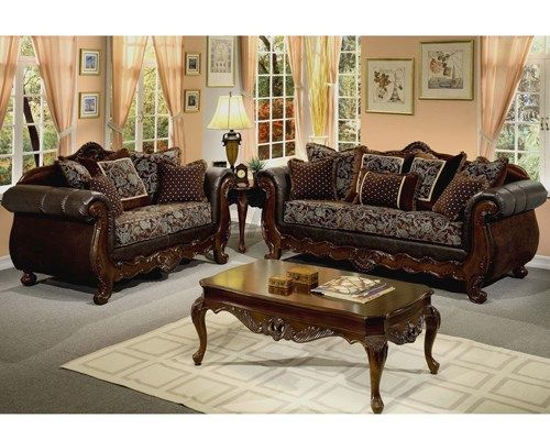 Luxury Wooden Sofa Set Designs For Living Room Furniture Part 17