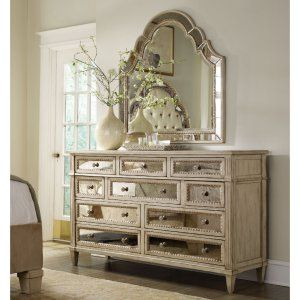 Hooker Furniture Sanctuary 10 Drawer Mirrored Dresser - Dressers at Hayneedle