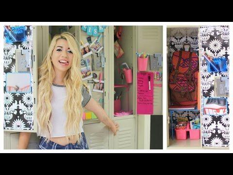 BEST! Back To School: DIY Locker Organization & Decorations! Tumblr Inspired - YouTube