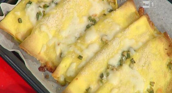 crespelle con zucchine e mozzarella