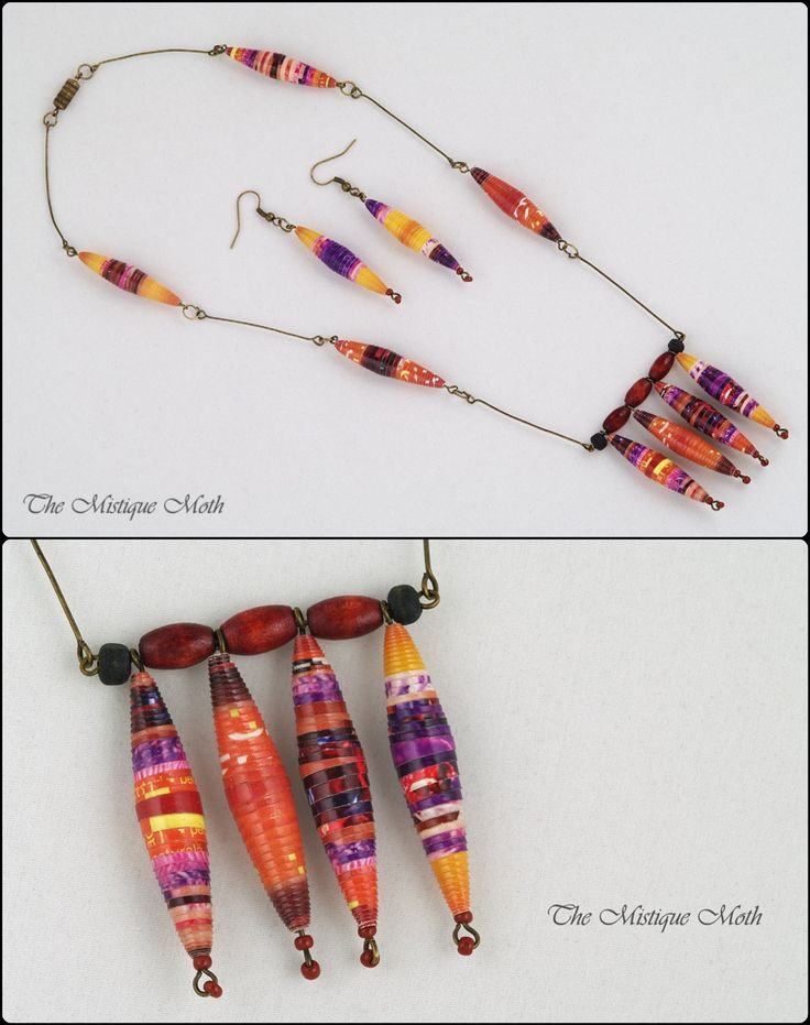 paper beads pattern | Paper Bead Jewelry Sets | The Mistique Moth