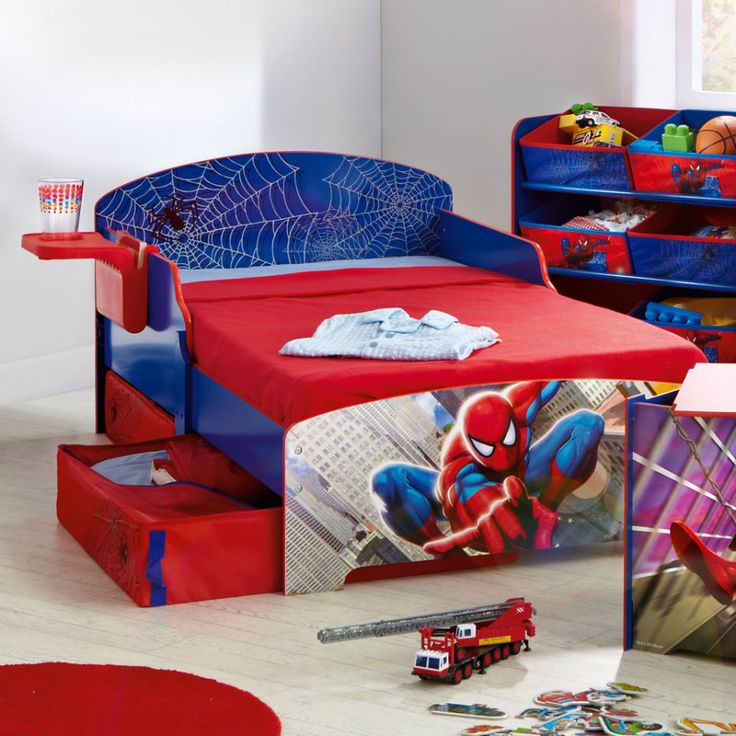 Cute And Colorful Little Boy Bedroom Ideas: Boys Room Spiderman Theme Bed ~  Kids Bedroom