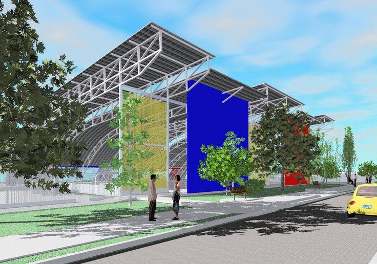 R2N Arquitetura e Urbanismo: Cobertura para Quadra Poliesportiva - São Paulo 2007