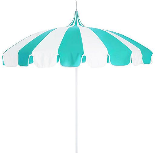 California Umbrella Pagoda Patio Umbrella - Aruba/White