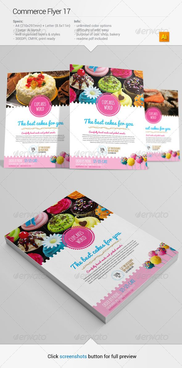 DOWNLOAD :: https://jquery-css.de/article-itmid-1006489231i.html ... Commerce Flyer 17 ...  a4, ad, advertisement, baker, bakery, bakes, brochure, cake, design, flyer, graphic, leaflet, letter, lollipop, muffins, print, sweets, template  ... Templates, Textures, Stock Photography, Creative Design, Infographics, Vectors, Print, Webdesign, Web Elements, Graphics, Wordpress Themes, eCommerce ... DOWNLOAD :: https://jquery-css.de/article-itmid-1006489231i.html