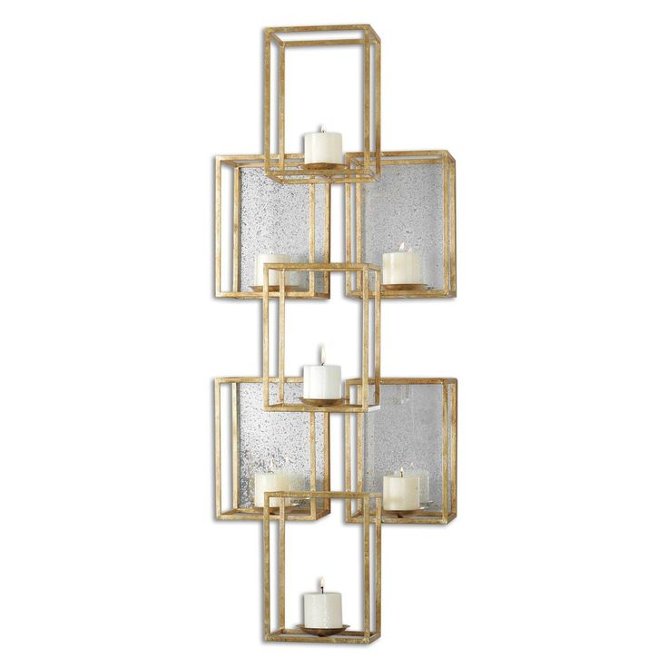 Mirrored Wall Sconce 46 best candle wall sconces images on pinterest | candle wall