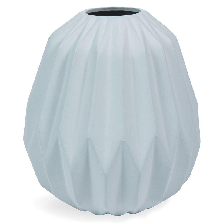 Vase en céramique bleu H 16 cm HEDBY