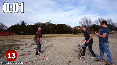 Josh Horton : Juggling Fruit Ninja WORLD RECORD. #juggling #ninja #skills #tricks #gifivideo
