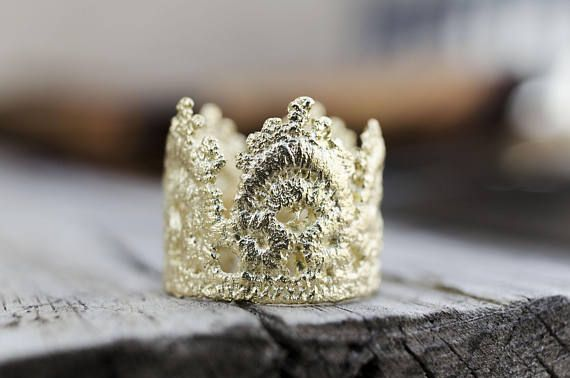 Lace Rings, Crown Rings, Dainty Jewelry, Boho Lace Rings, Princess Crown Rings, Romantic Jewelry, Queen Crown, Gifts for her, Ready to Ship