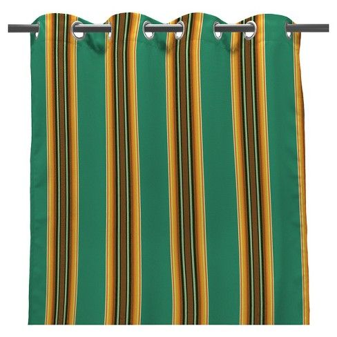 "Jordan 50"" x 96"" Outdoor Curtain Panel - Fiji Teal. Black Panther home decor inspo. Tag: ethnic exotic tribal wakanda forever tchalla wakanda warrior okoye"