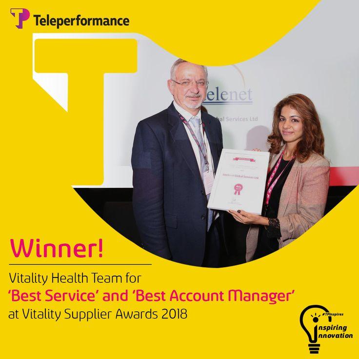 Vitality Health Team of Teleperformance DIBS bags an award