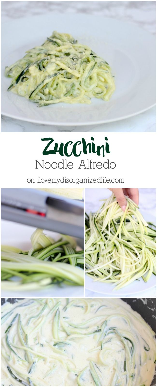 This low-carb Zucchini noodle Alfredo recipe is rich, creamy and totally cheesy. It's so good, you'll feel like you're cheating!