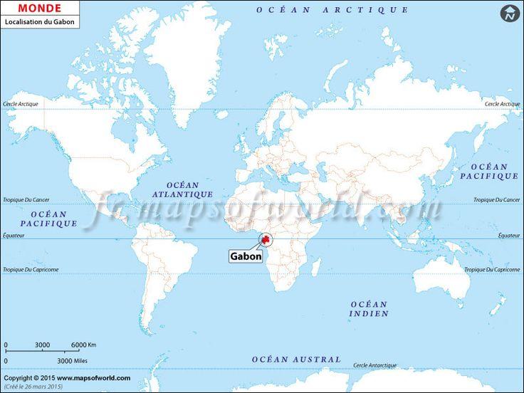 Viac Ako Najlepších Nápadov Na Pintereste Na Tému Carte Du - Where is gabon on the world map