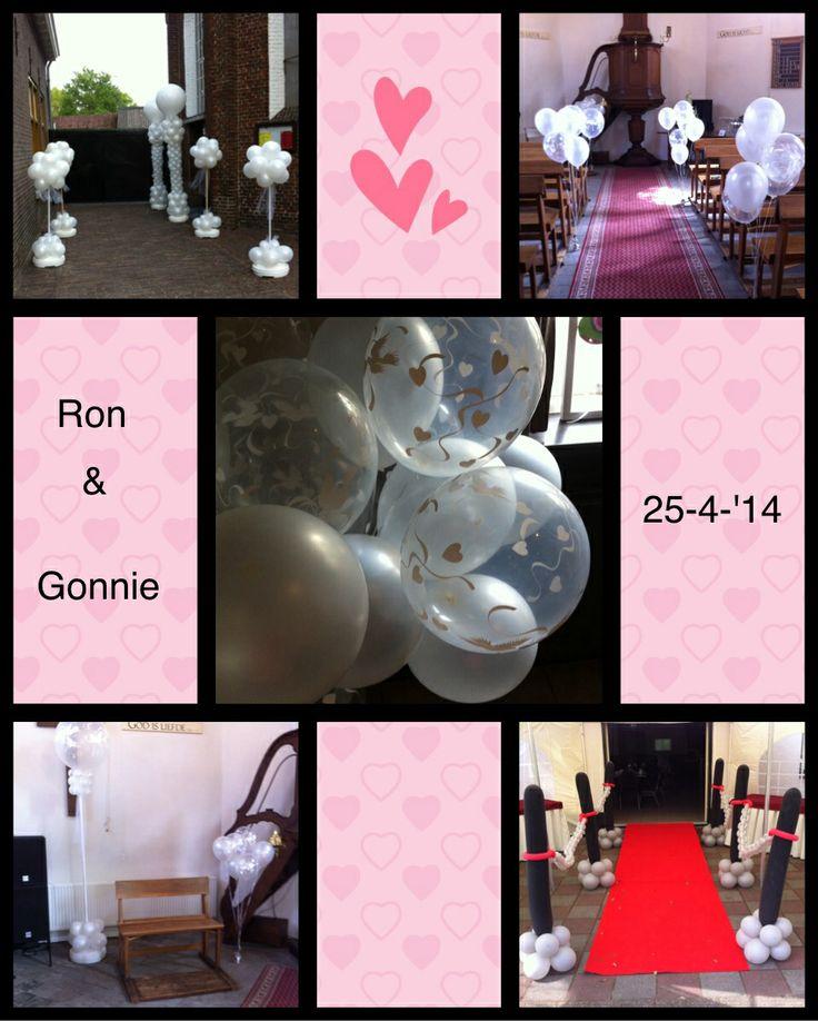 Ballon deco bruiloft Ron en Gonnie
