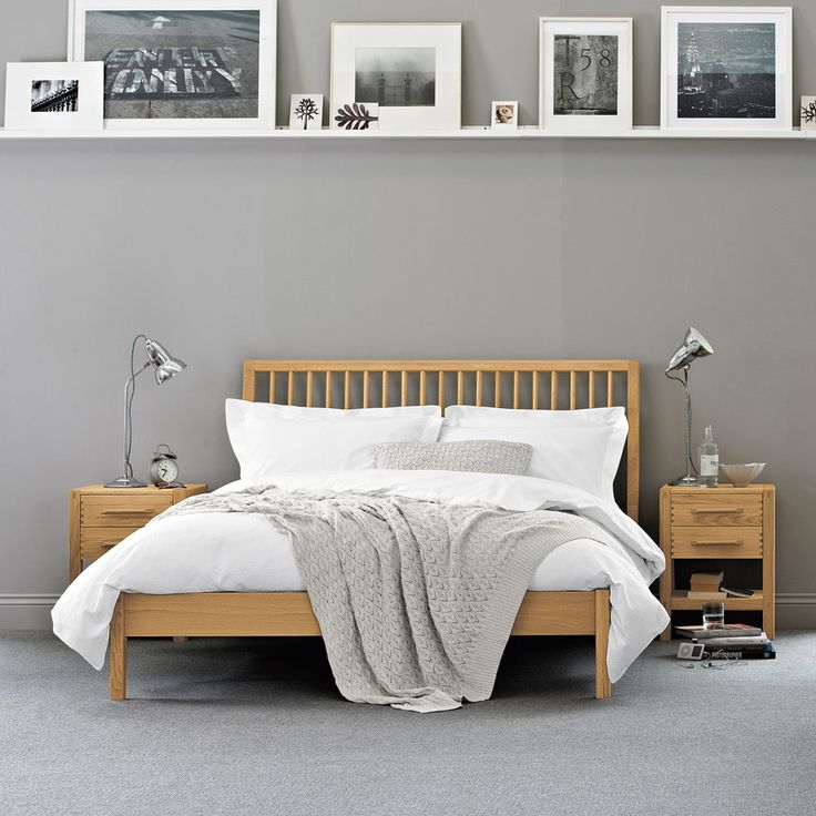 Pimlico Bed | Oak Bed Frame | Feather & Black