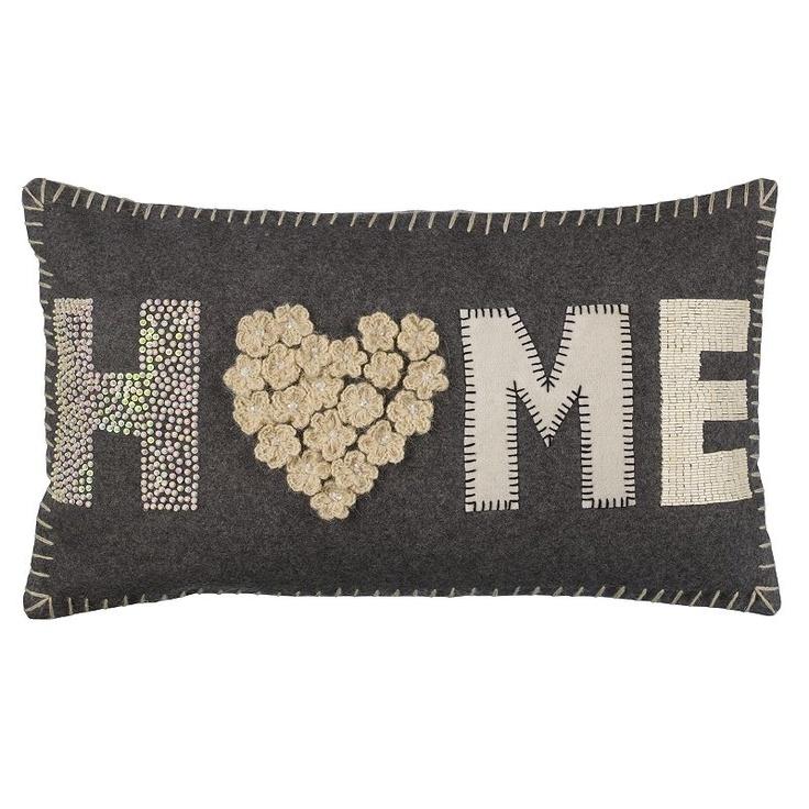 Buy John Lewis Home Cushion, Grey / Cream online at JohnLewis.com - John Lewis
