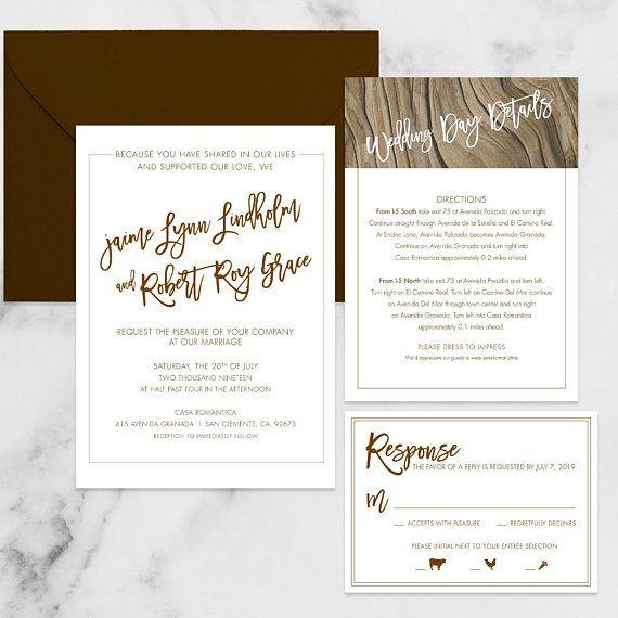 Digital File or Printed Beautiful Seascape Wedding Invitation Suite