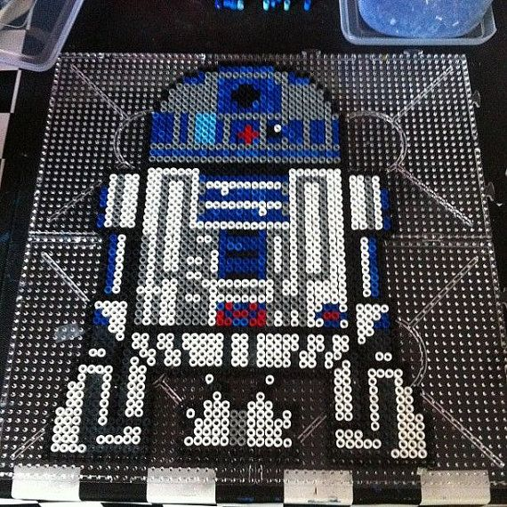 Beep Boop Beep What did it just call me??  The foul-mouthed little Droid is back (in perler form)