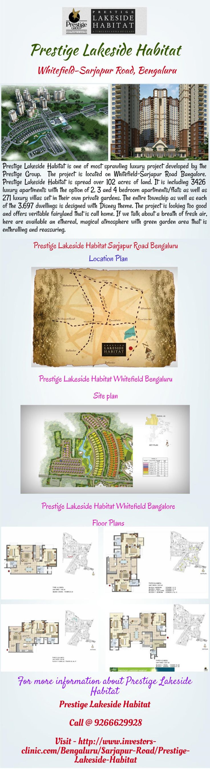 Prestige in east providence rhode island with reviews - Prestige Lakeside Habitat Is One Of Most Sprawling Luxury Project Developed By The Prestige Group