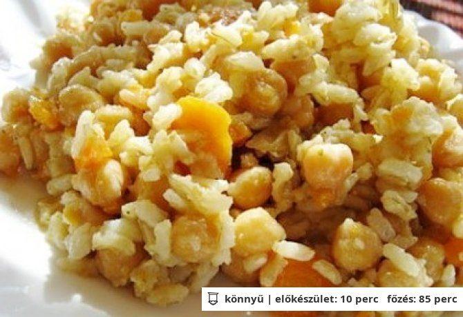 Csicseriborsós-zöldséges rizs