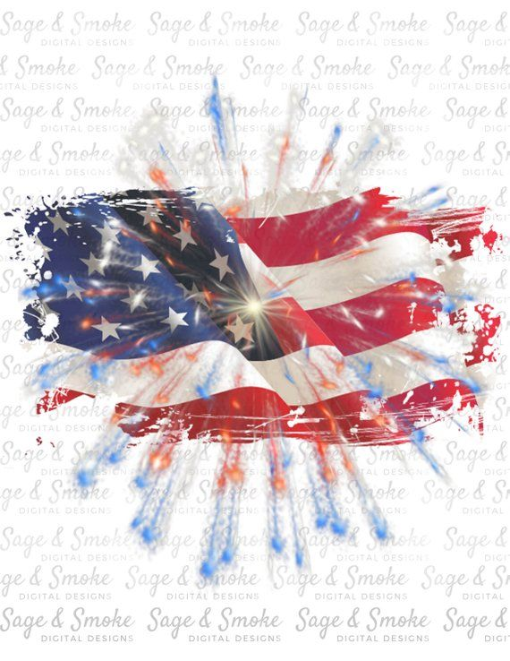 USA 4th July sublimation red white and blue  colors Loaded Tea PNG