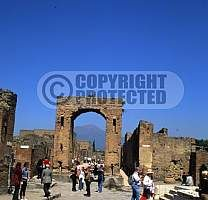 Italy, pompeii city bay of naples