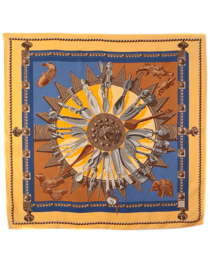 "Spotted this Hermes ""Cuillers d'Afrique"" by Caty Latham Silk Scarf on Rue La La. Shop (quickly!)."