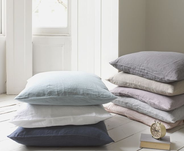 Our gorgeous Scrunch cushions are made from 100% Belgian linen and are available in five lovely colours. With their relaxed look there is no need to iron.