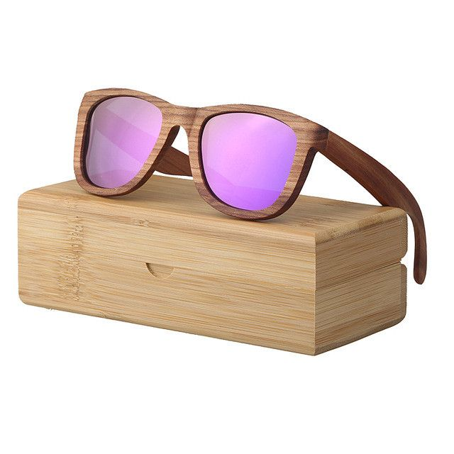 X-WOOD Zebra Wood Sunglasses Women Vintage Designer Square Wooden Sunglasses Polarized Men Glasses With Bamboo Box Gafas Mujer