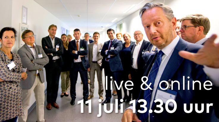 22 juni 2016: Er gebeurt veel bij Zuyderland. Daarom neemt David Jongen, onze voorzitter van de Raad van Bestuur, je op 11 juli 13.30 uur mee langs enkele highlights en geeft je live & online een kijkje achter de schermen. Nieuwsgierig? Blok 11 juli 13:30 alvast in je agenda en zorg dat je klaarzit achter jouw pc of tablet. Schrijf je via deze pagina in en we houden je op de hoogte: http://jaarverslag2015.zuyderland.nl/subscribe.php