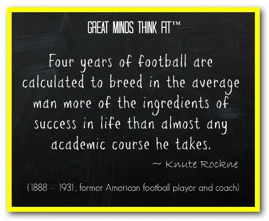 Famous #Football #Quote by Knute Rockne