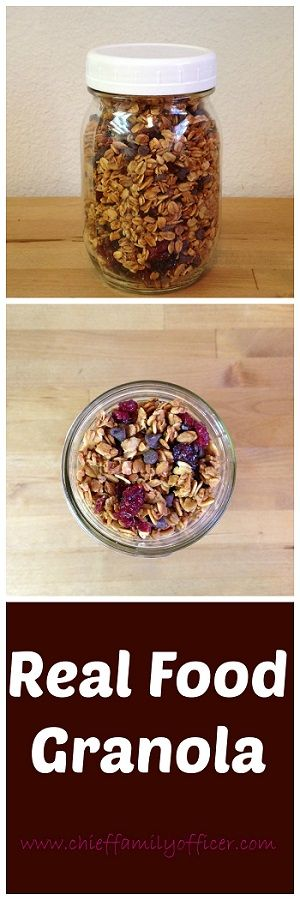 Ever since reading and reviewing Lisa Leake's 100 Days of Real Food last year, I've been making granola. It's primarily oats, and oats are a minimally proce