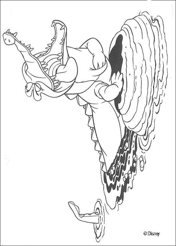 crocodile coloring page print out and color this crocodile coloring page and decorate your room with your lovely coloring pages from peter pan coloring - Crocodile Coloring Pages Print