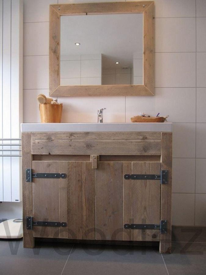Badkamer kast houten badkamerkast hoog badkamermeubel a