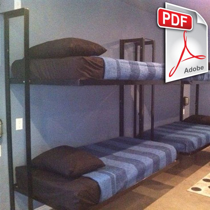 These Folding Bunk Beds Were Created By One Of Our Own Subscribers The Amount