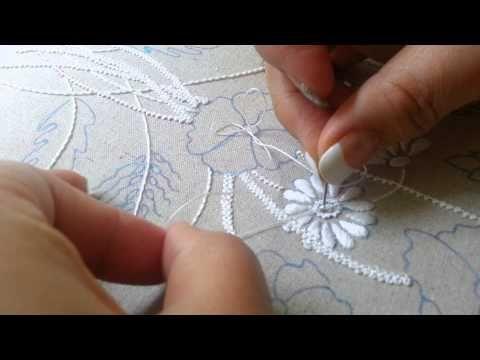 프렌치넛 스티치 (French Knot Stitch) 씨앗수 - YouTube