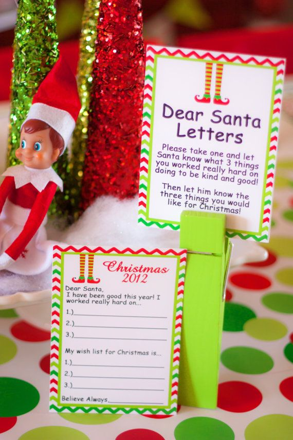 Superb Good Christmas Party Ideas Part - 8: CHRISTMAS Party - Elf Party - Santa Party - PRINTABLE Party Package - Elf  Feet - Chevron Christmas