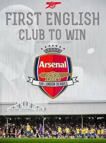 Arsenal became the first London club to win 100 London derbies in the Premier League after beating Fulham 3-1 on Saturday, Aug 24, 2013.