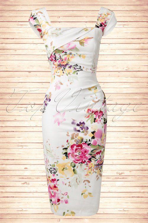 Spring Fever!!! The Pretty Dress Company Cara Seville White Pencil Dress 100 57 15357 20150214 0001W