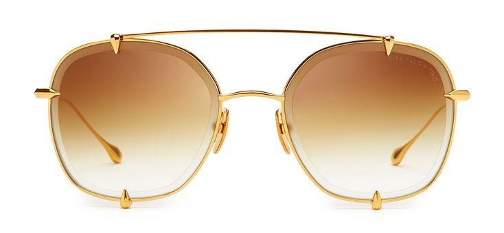 The TALON-TWO Aviator Sunglasses in 12K Gold. #DITAeyewear