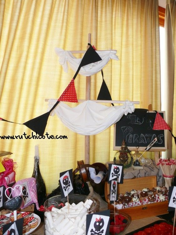 Cómo decorar una mesa dulce infantil #fiestapirata