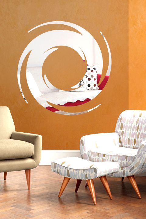 wall decals pop up mirror reflective decals
