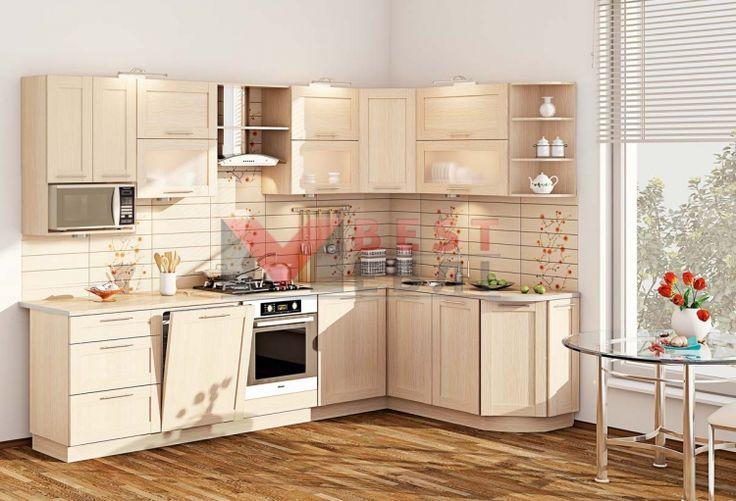 Кухня угловая КХ-429 со столешницей серии Престиж