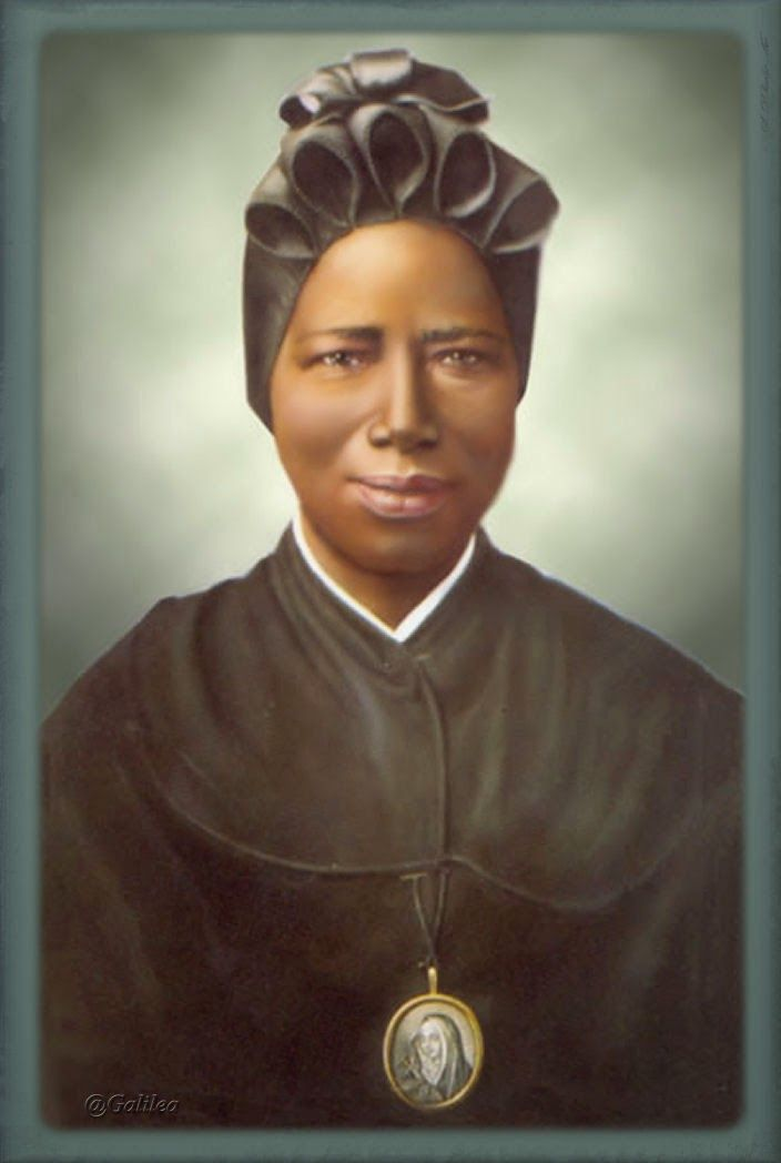 Saint Josephine Bakhita was a Sudanese born former slave who became a Canossian Religious Sister in Italy, living and working there for 45 years. The Roman Catholic Church declared her a saint in 2000.