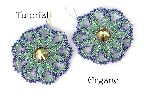 Big, rounded and at the same time very light earrings. Flower shape earrings are perfect for summer. #beading #earrings #jewelry #swarovski #rivoli #lightearrings #handmadeearrings #flowerearrings #flower #trendy #fashion #unique #handmade #crystals #beadedearrings