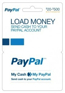PayPal allows method to ad cash to account