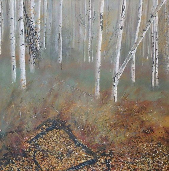 Birches in Autumn by KirstenMcIntoshArt on Etsy