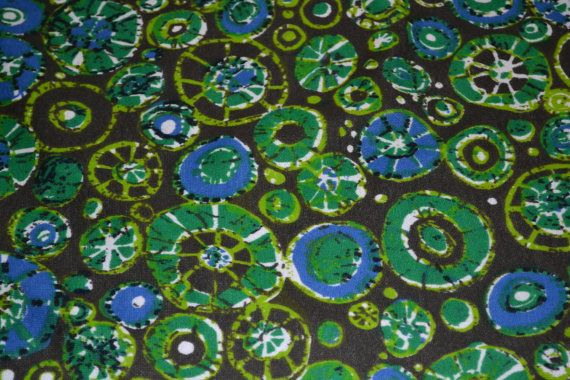 Retro fabric sew tunic / dress Maud Fredin Fredholm. Original 60s