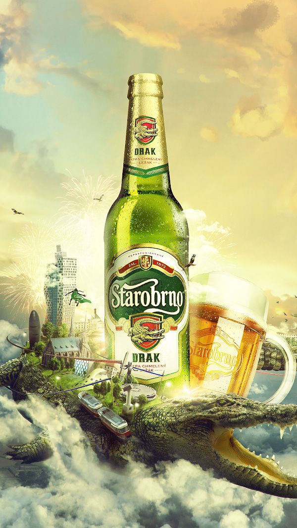 "Ad | ARE YOU THIRSTY? Starobrno ""Dragon"" ATL Campaing visual by Lukas Vodicka on Behance"
