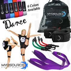 This Dance Combo Includes: a set of Myosource Kinetic Bands for strengthening legs, hips, hip flexors, and core muscles plus a free Flexibility Stunt Strap, a great stretching and warm up tool for dancers (choose from 6 colors)